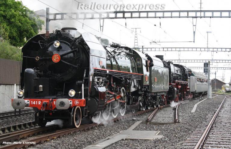 141 R 1244 SNCF à Gorgier Saint Aubin