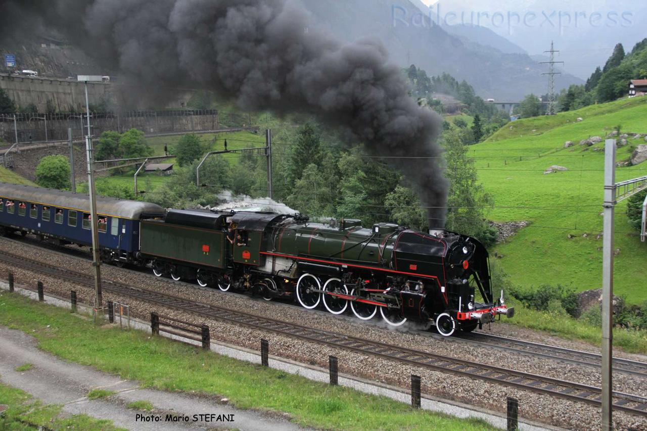 141 R 1244 SNCF à Wassen (CH)