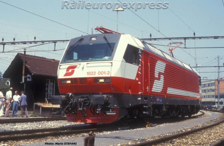 1822 001-2 OBB en essais à Thun