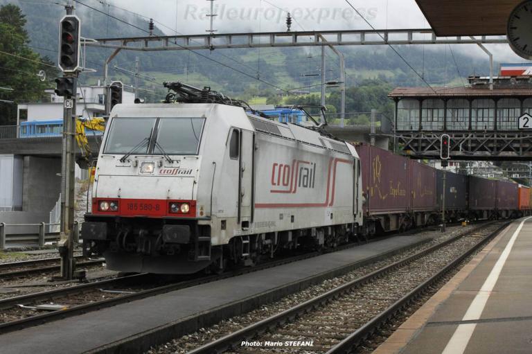 185 580-4 Crossrail à Arth Goldau