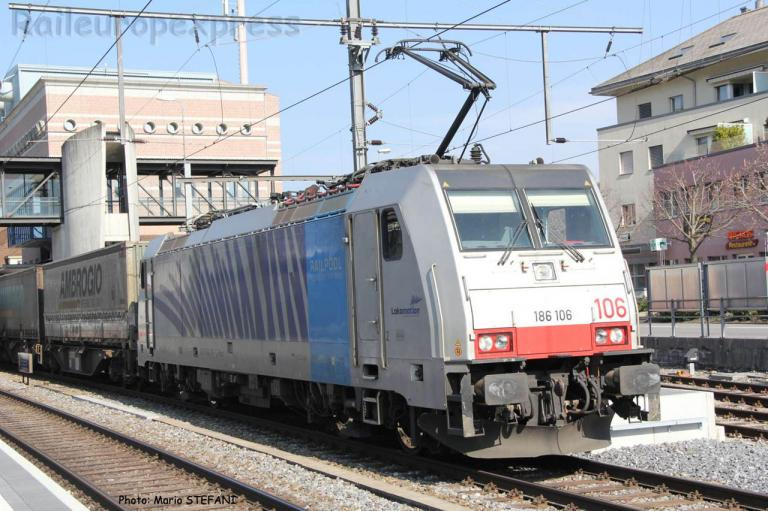 186 106-1 Railpool à Spiez (CH)
