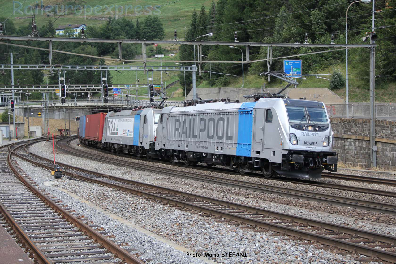187 006-2 BLS à Airolo (CH)