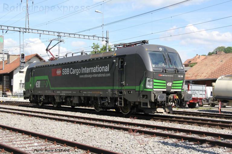 193 209 CFF à Schwarzenburg (CH)