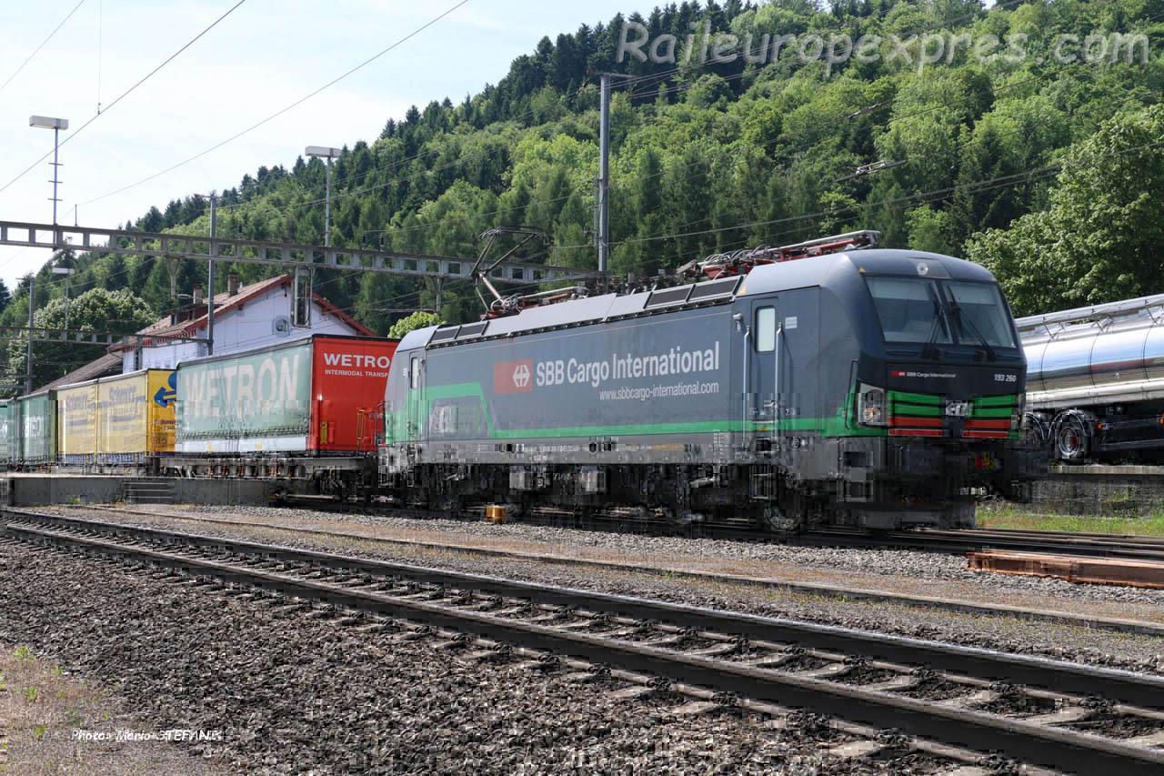 193 260 CFF à Hendschiken (CH)