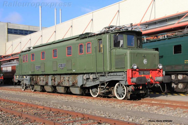 2D2 5525 SNCF à Genève (CH)