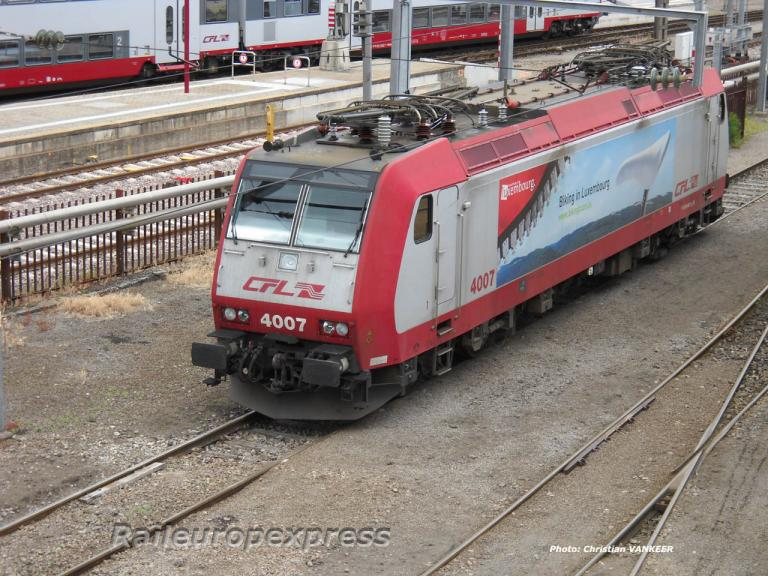 4008 CFL en gare de Luxembourg