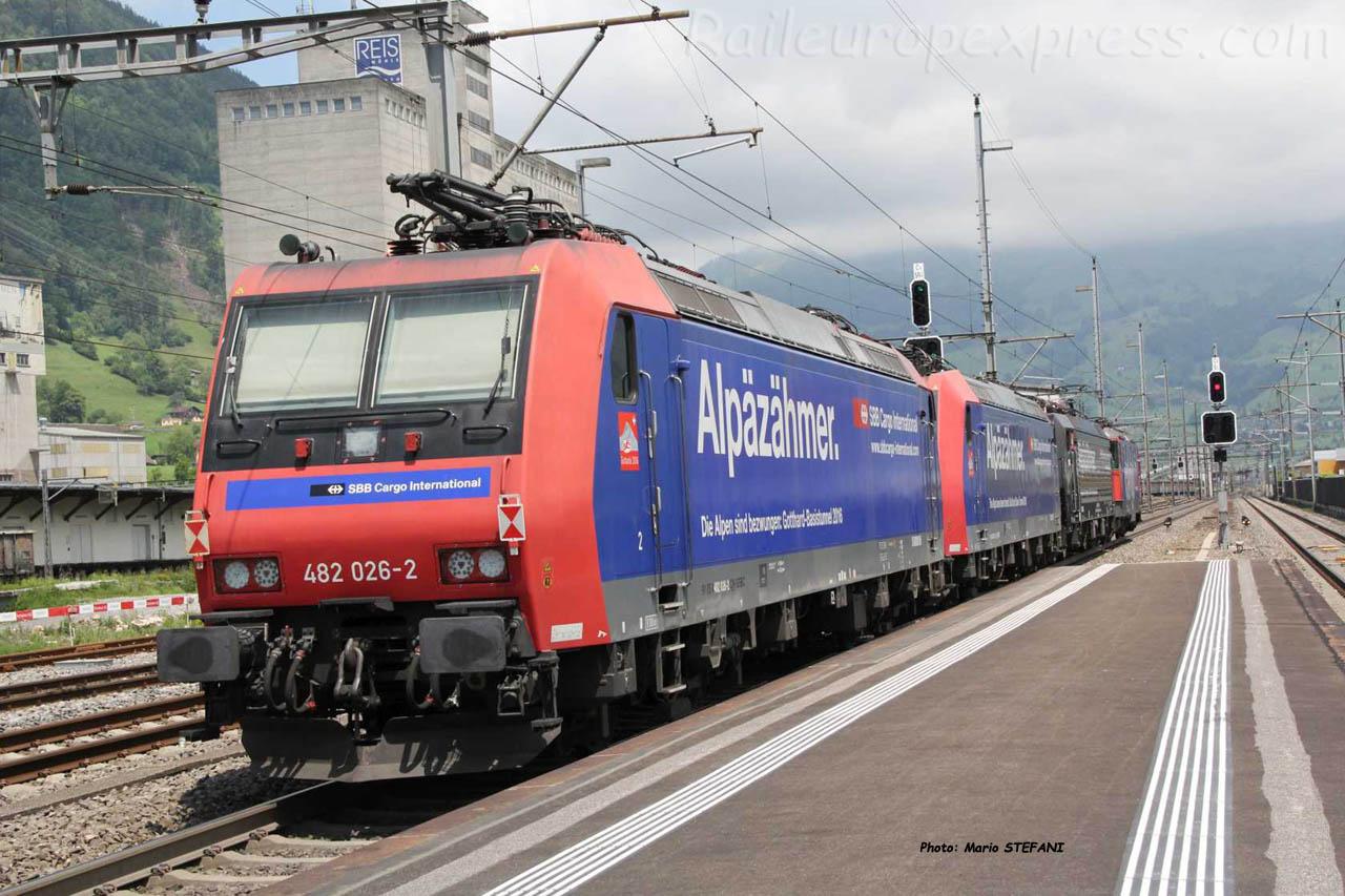 482 026-2 CFF à Brunnen (CH)