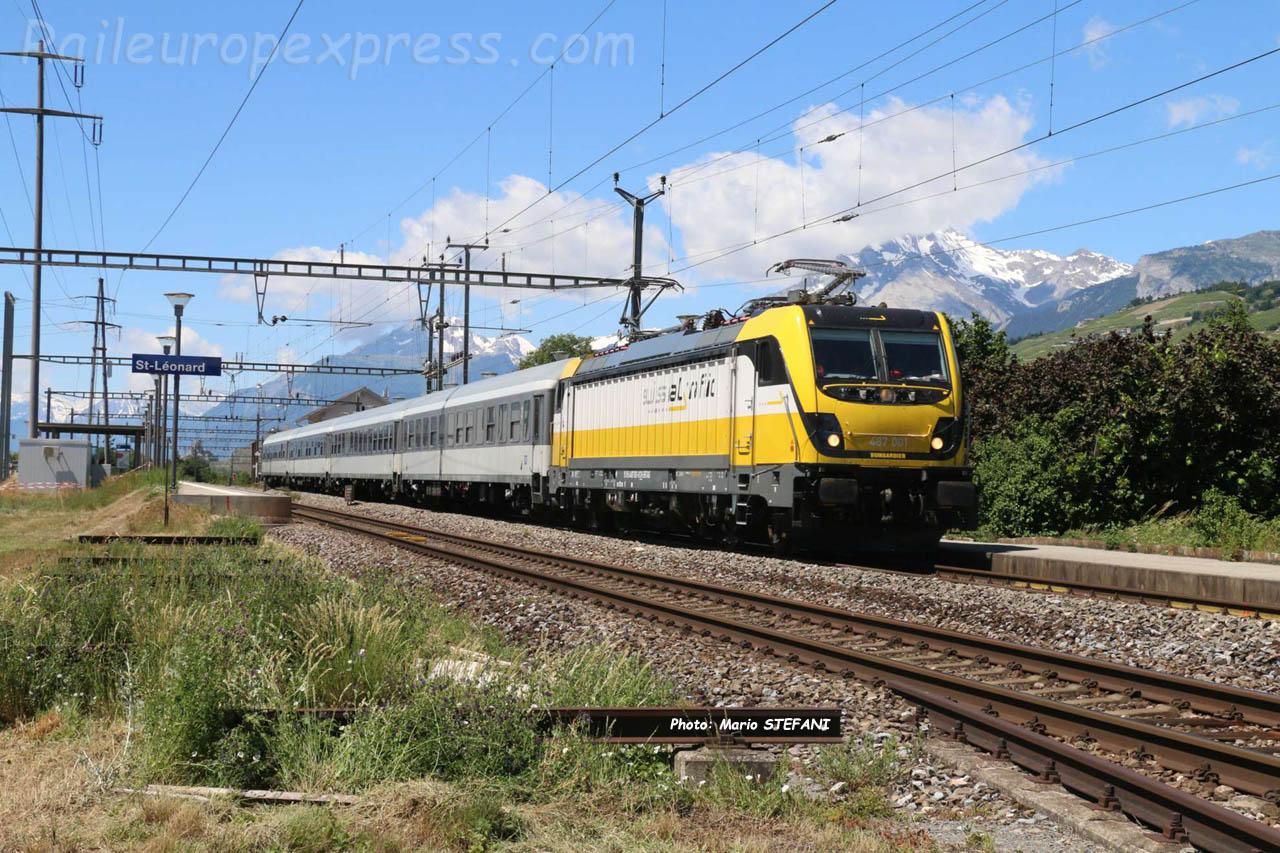 487 001 Swiss Rail Traffic à Sierre (CH)