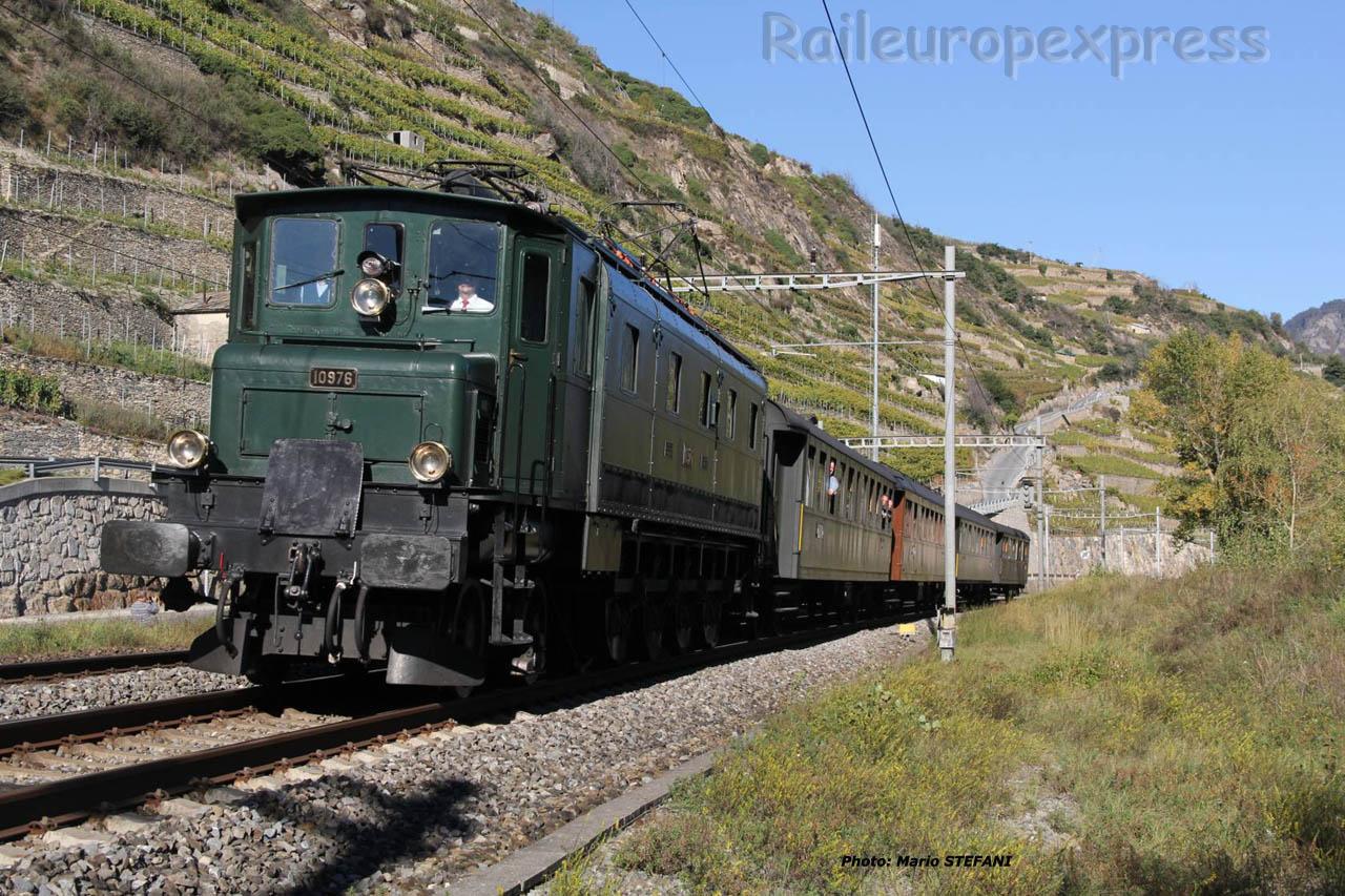 Ae 4/7 10976 CFF à Sion (CH)