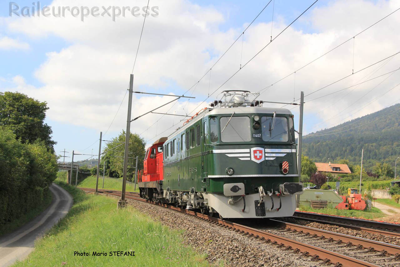 Ae 6/6 11407 CFF à Boudry (CH)