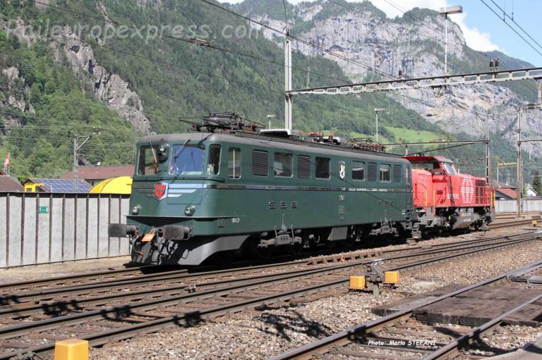 Ae 6/6 11421 CFF à Ersfeld (CH)