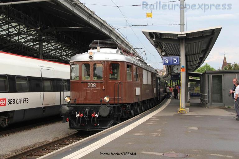 Ae 6/8 208 BLS à Lausanne (CH)