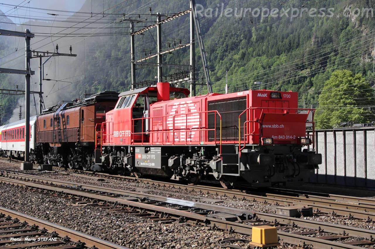 Am 841 014-2 CFF à Erstfeld (CH)