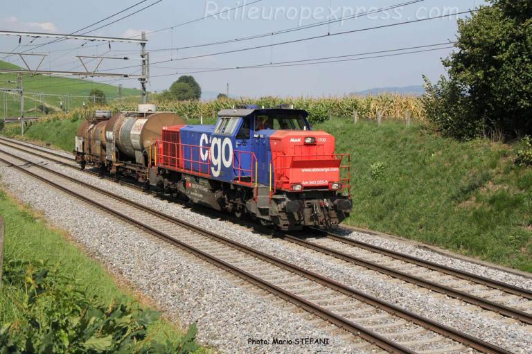 Am 843 055-5 CFF à Kumm (CH)