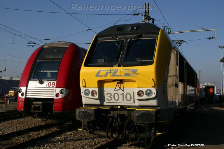 Automotrice série 2200 et HLE 3010 CFL