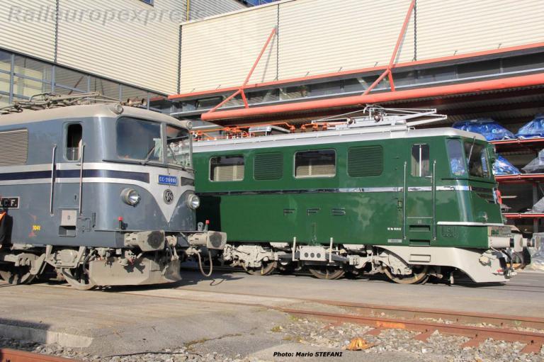 BB 20001 SNCF et Ae 6/6 CFF à Genève (CH)