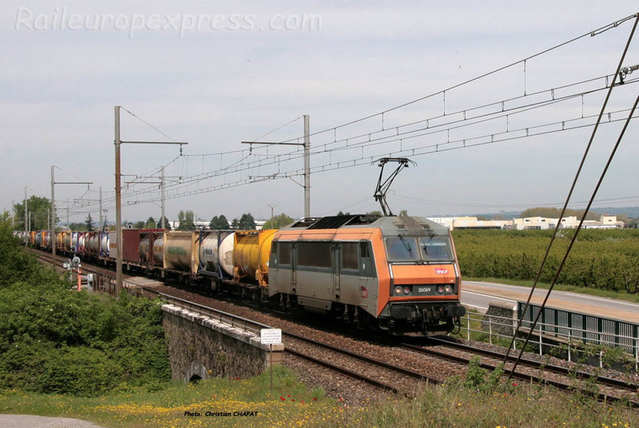 BB 26069 SNCF à Andance (F-07)