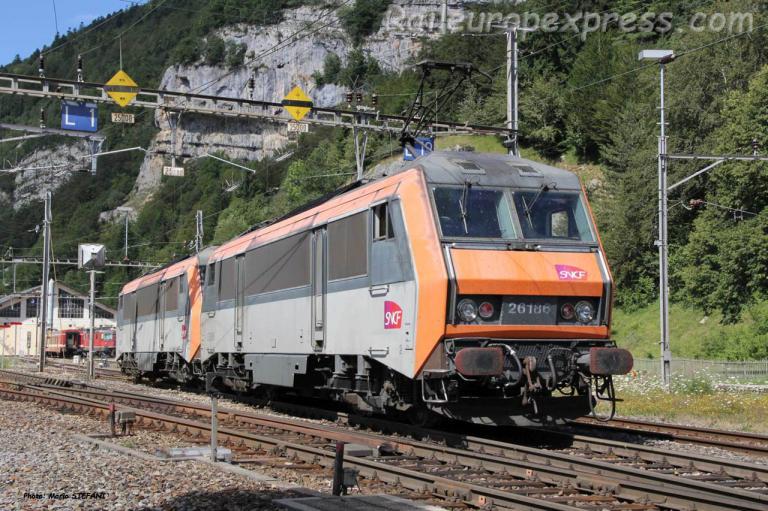 BB 26186 SNCF à Vallorbe (CH)