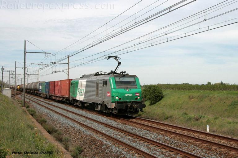 BB 27031 SNCF à Laveyron (F-26)