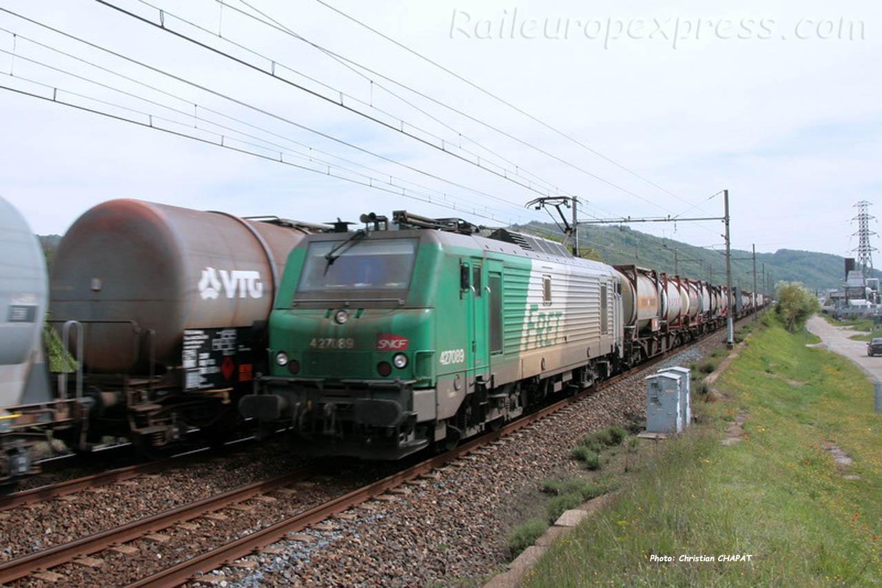 BB 27089 SNCF à Laveyron (F-26)