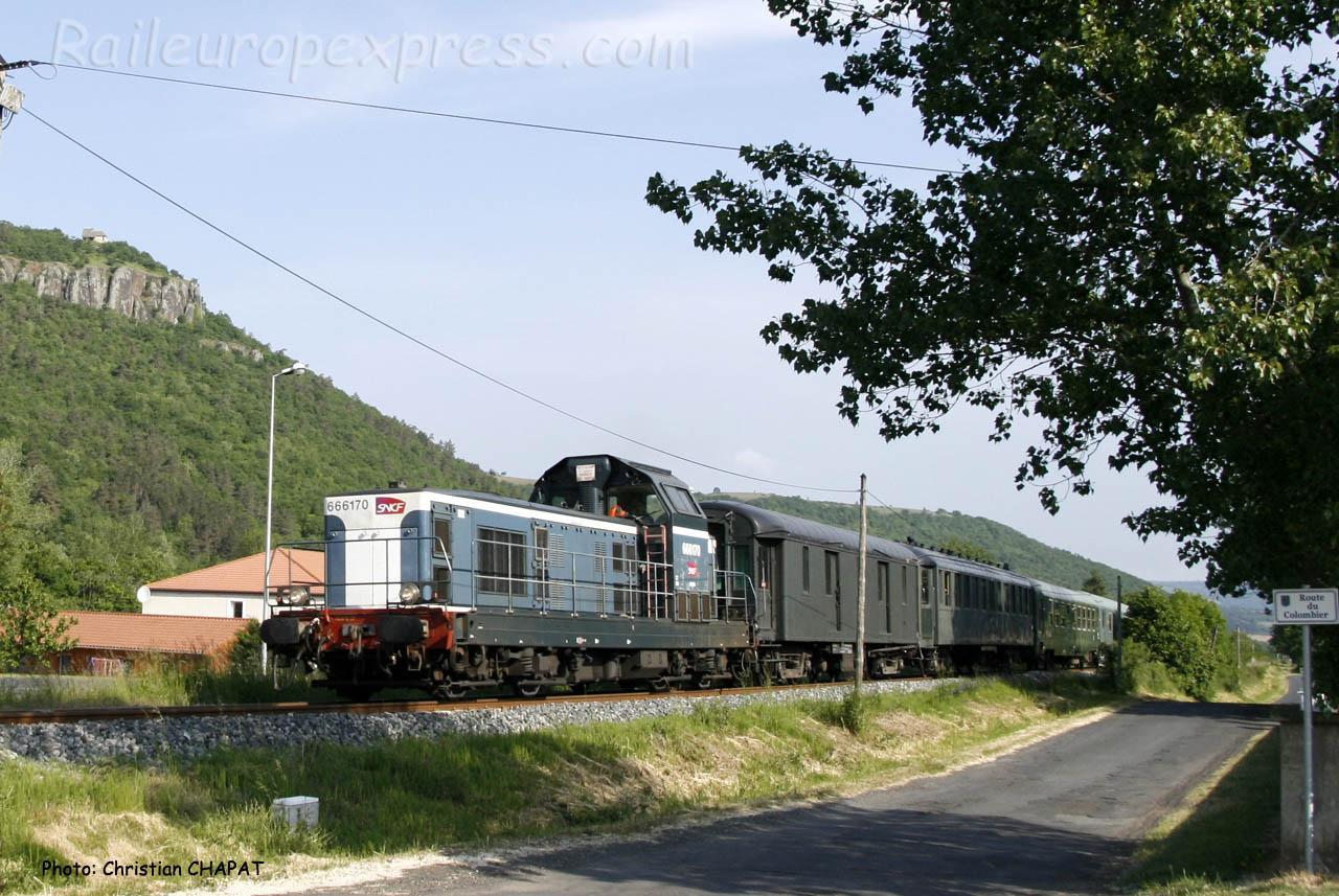 BB 66170 SNCF à Massiac (F-15)