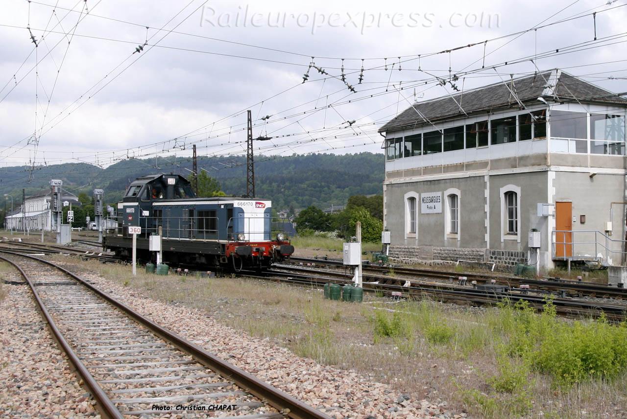 BB 66170 SNCF à Neussargues (F-15)