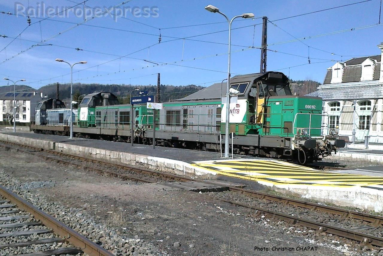 BB 66192 SNCF à Neussargues (F-15)