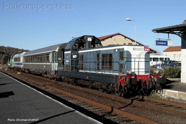 BB 66502 SNCF à Langeac (F-43)