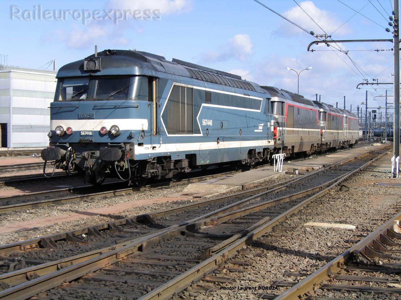 BB 67446 SNCF à Bordeaux (F-33)