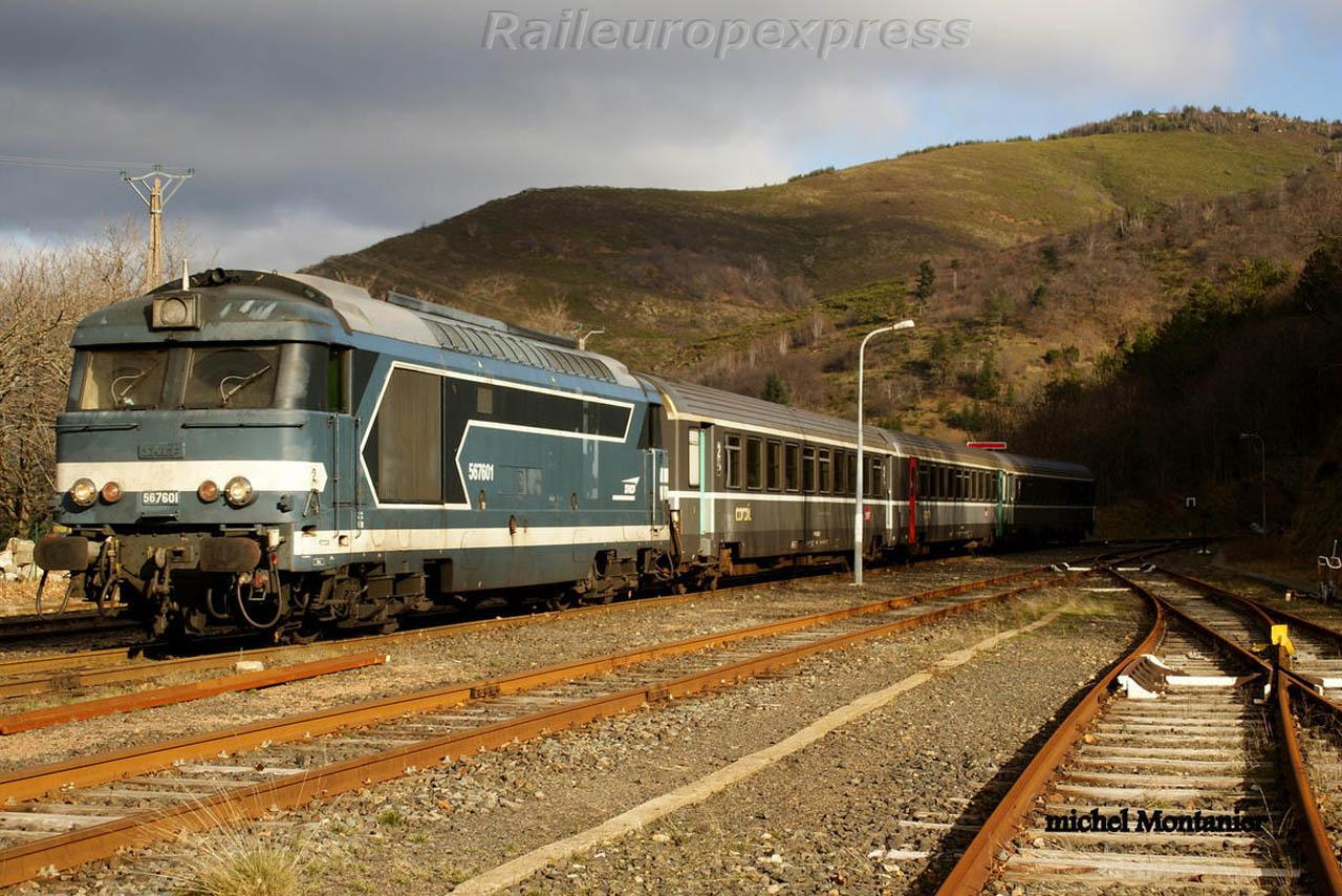 BB 67601 SNCF à Villefort (F 48)