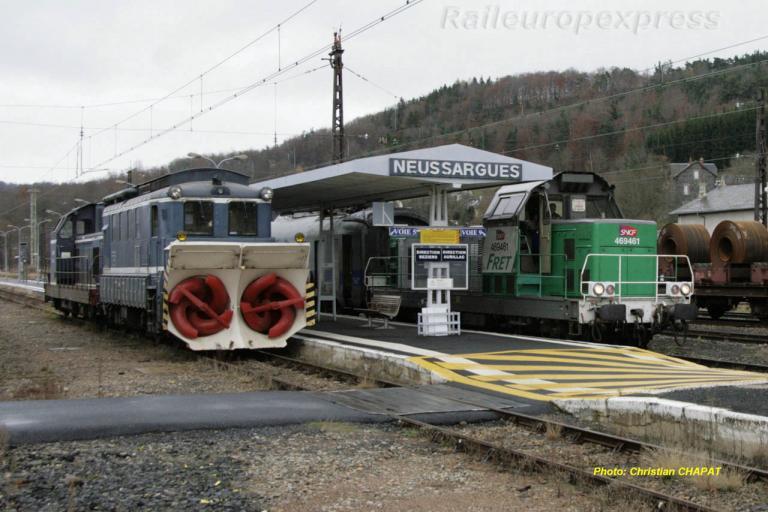 BB 69461 et chasse neige à Neussargues