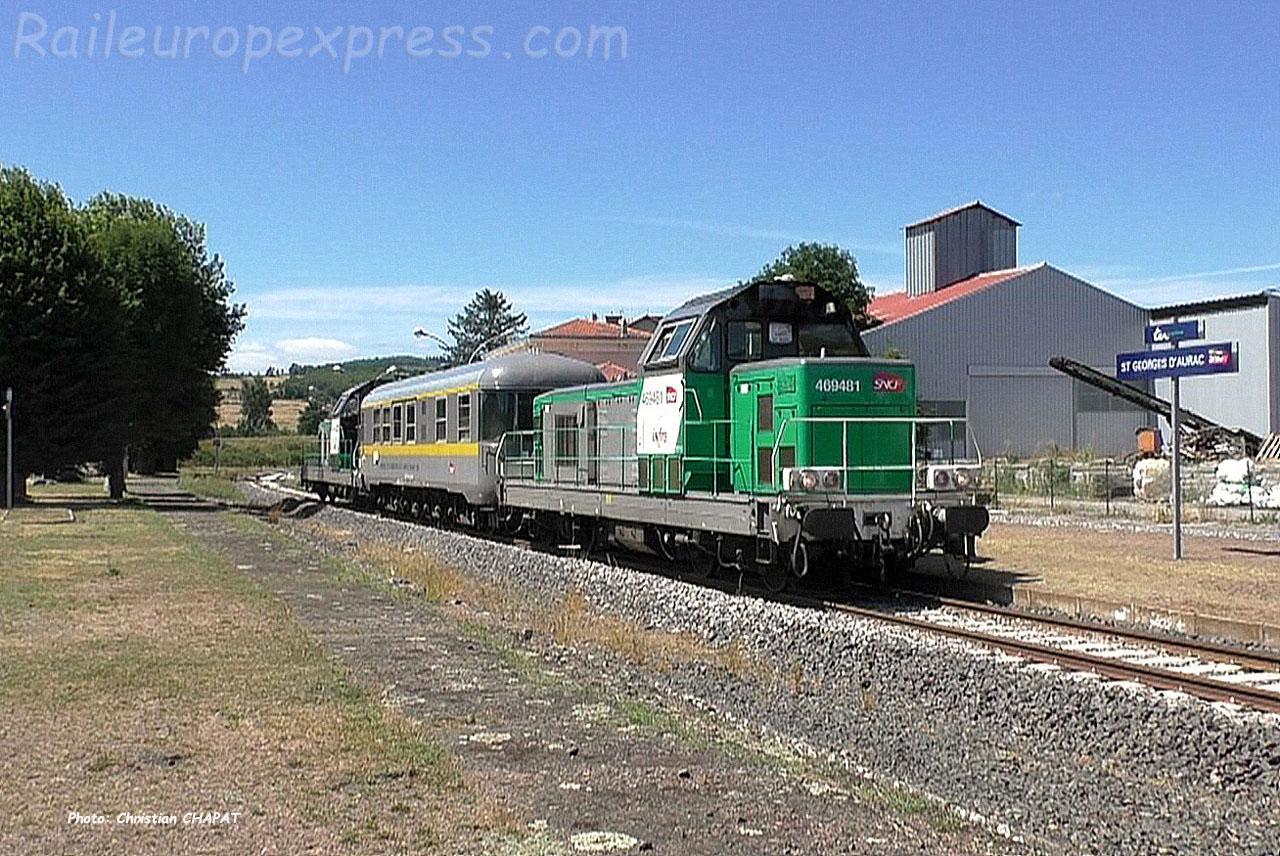 BB 69481 SNCF à Saint Georges d'Aurac (F-43)