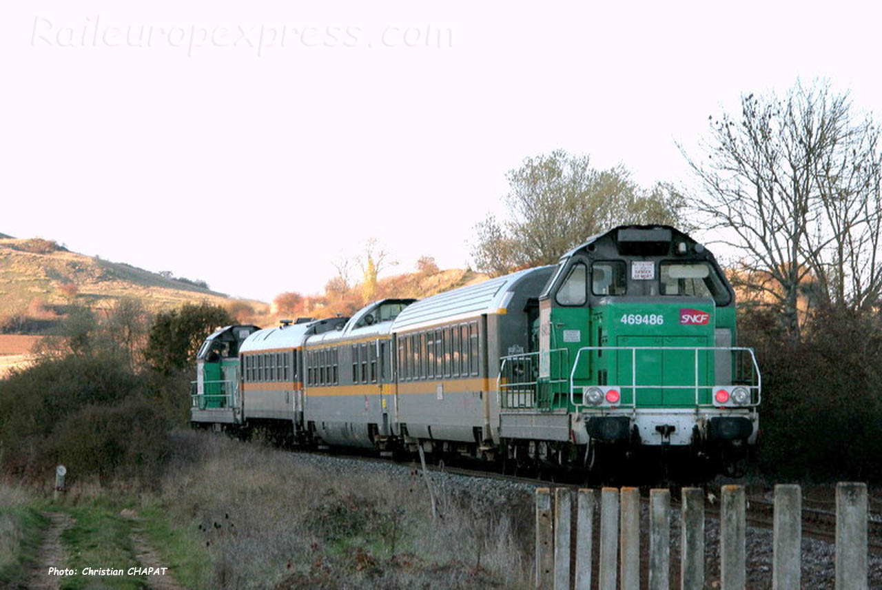 BB 69486 SNCF vers Brioude (F-43)