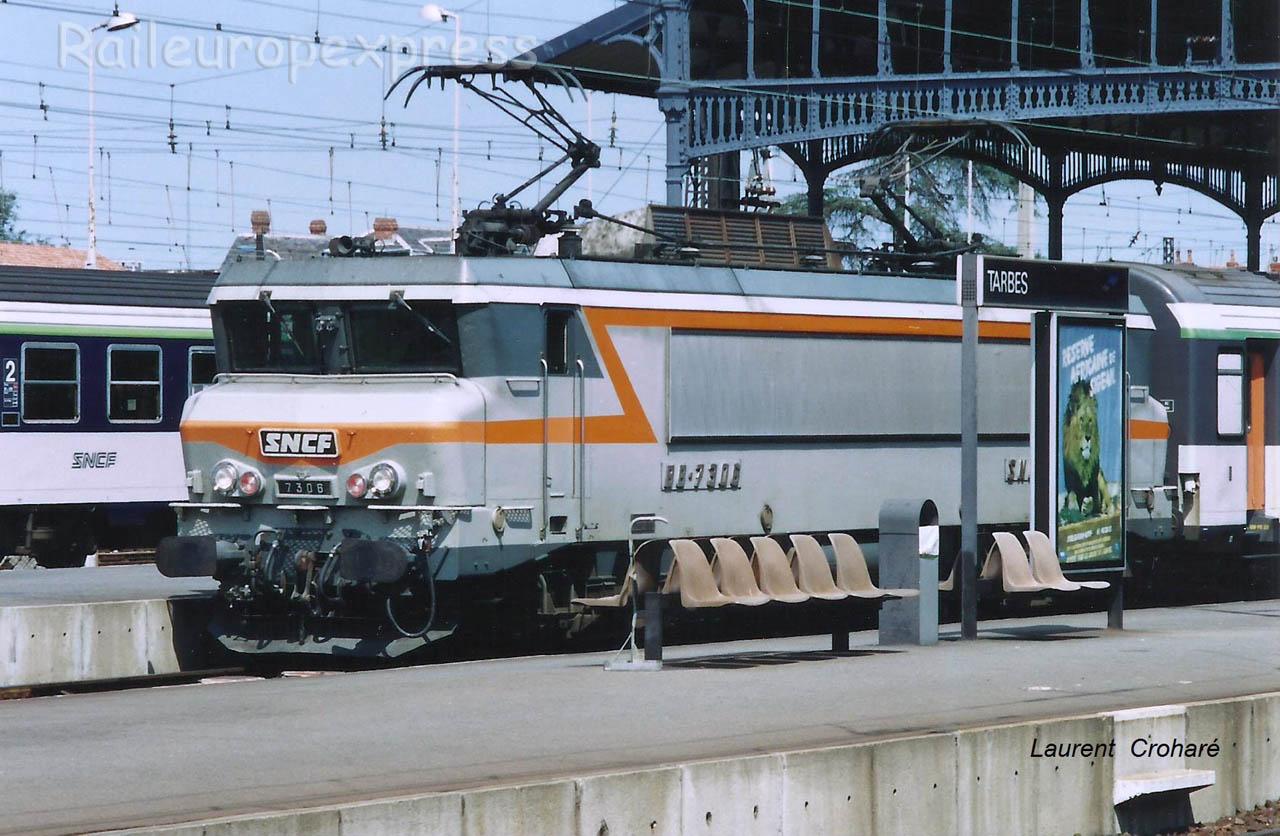 BB 7306 SNCF à Tarbes (F-65)