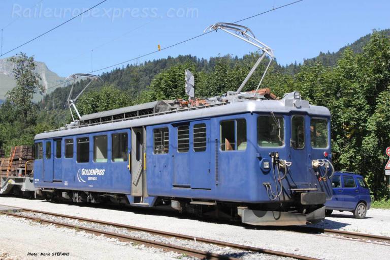 BDe 4/4 3005 MOB à La Tine (CH)