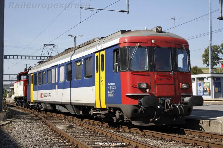 Be 540 059-3 CFF à Schmitten (CH)