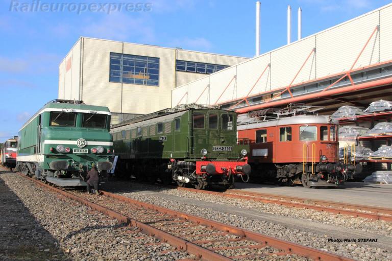 CC 6558 2CC2 3402 SNCF et Ae 6/8 205 BLS à Genève (CH)