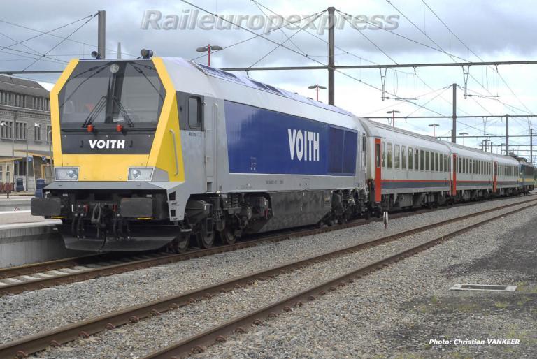 CC Diesel Voith en  essais à la SNCB