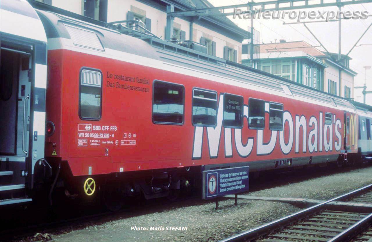 CFF WR Mac Donald's à Yverdon