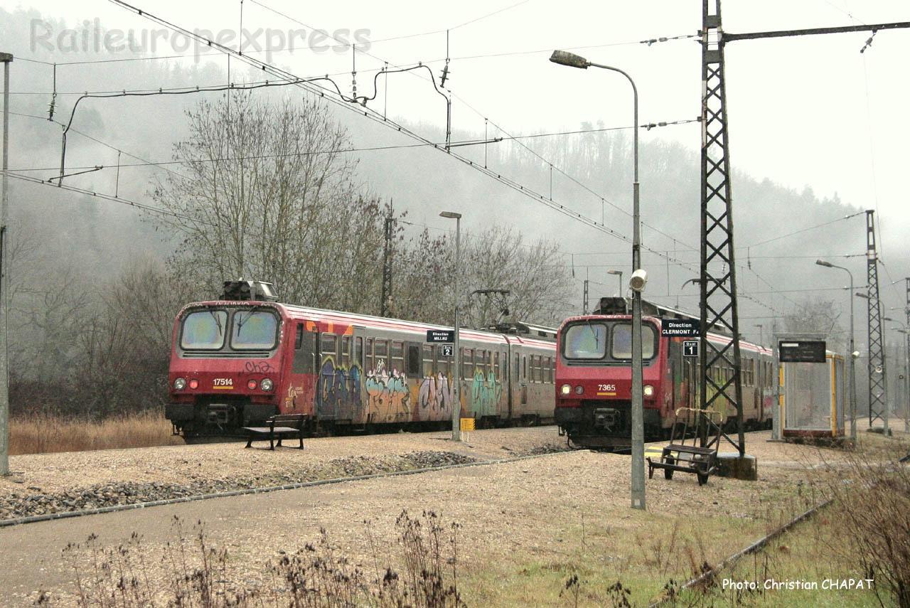Croisement de Z 7300 SNCF à Banassac La Canourgue (F-48)