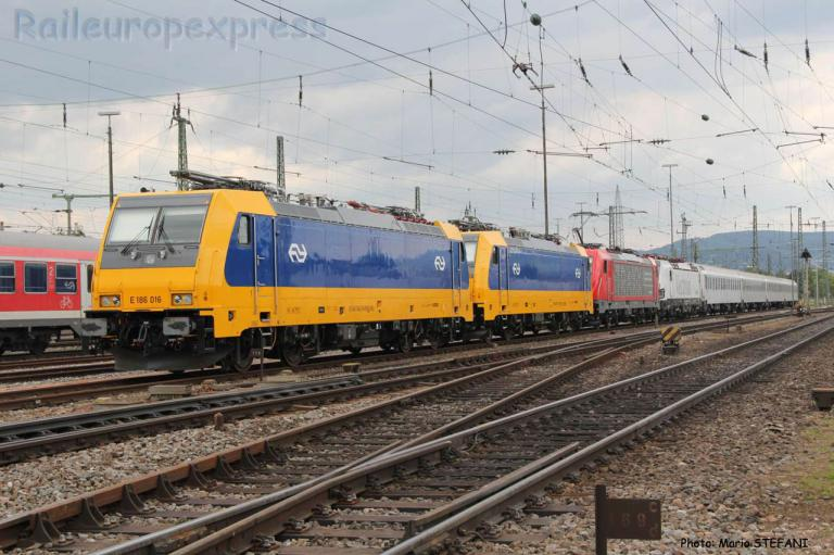 E 186 016 NS à Basel (CH)