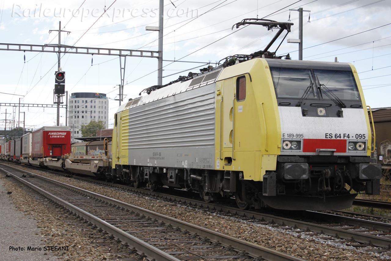 E 189 995 Dispolok à Pratteln (CH)