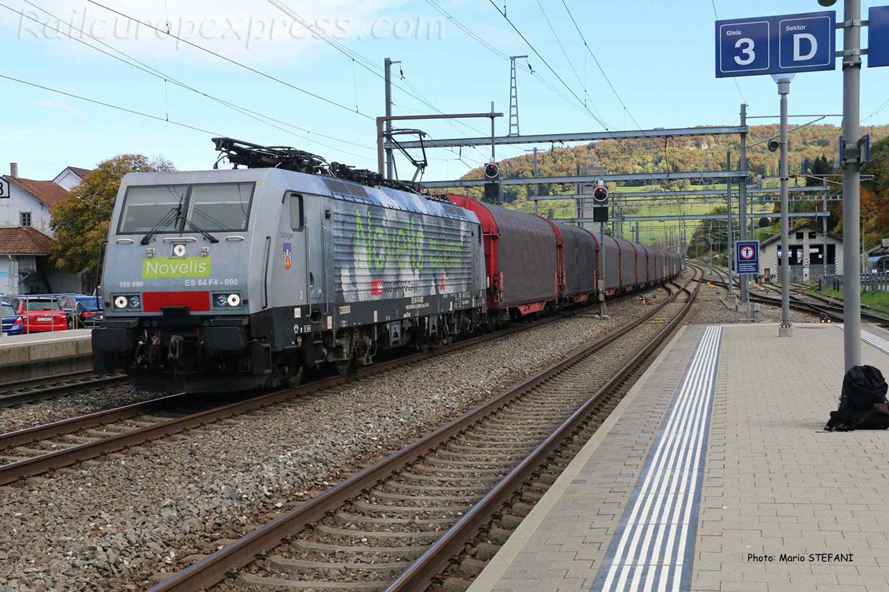 ES 64 F4 090 Novelis à Sissach (CH)