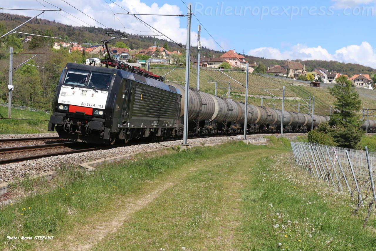 ES 64 F4-113 MRCE à Auvernier (CH)