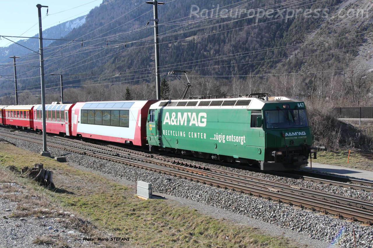 Ge 4/4 III 647 RhB à Felsberg (CH)