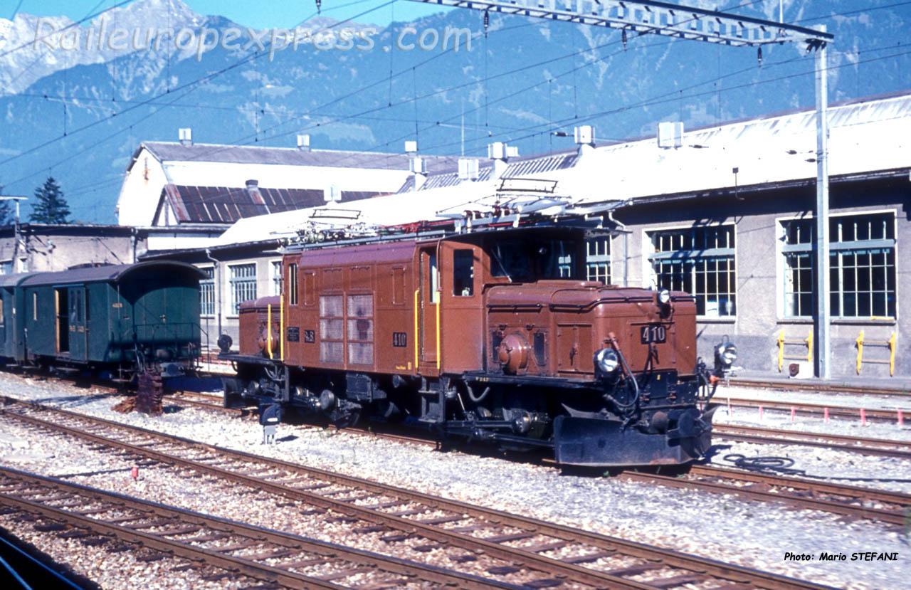 Ge 6/6 410 RhB à Landquart (CH)