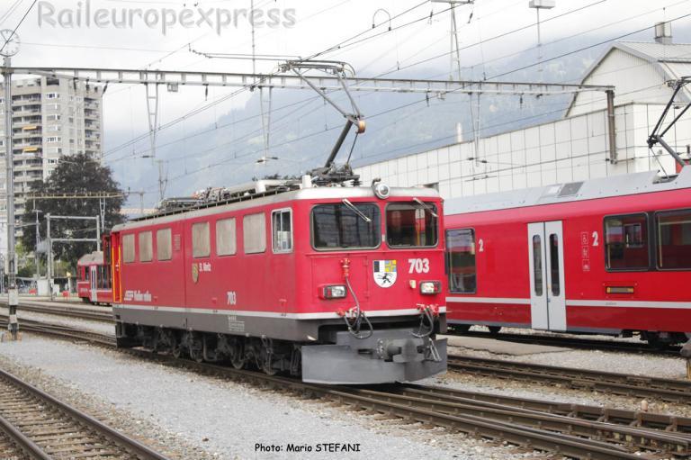 Ge 6/6 II 703 RhB à Landquart (CH)