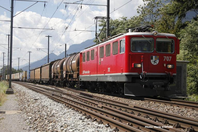 Ge 6/6 707 RhB à Felsberg