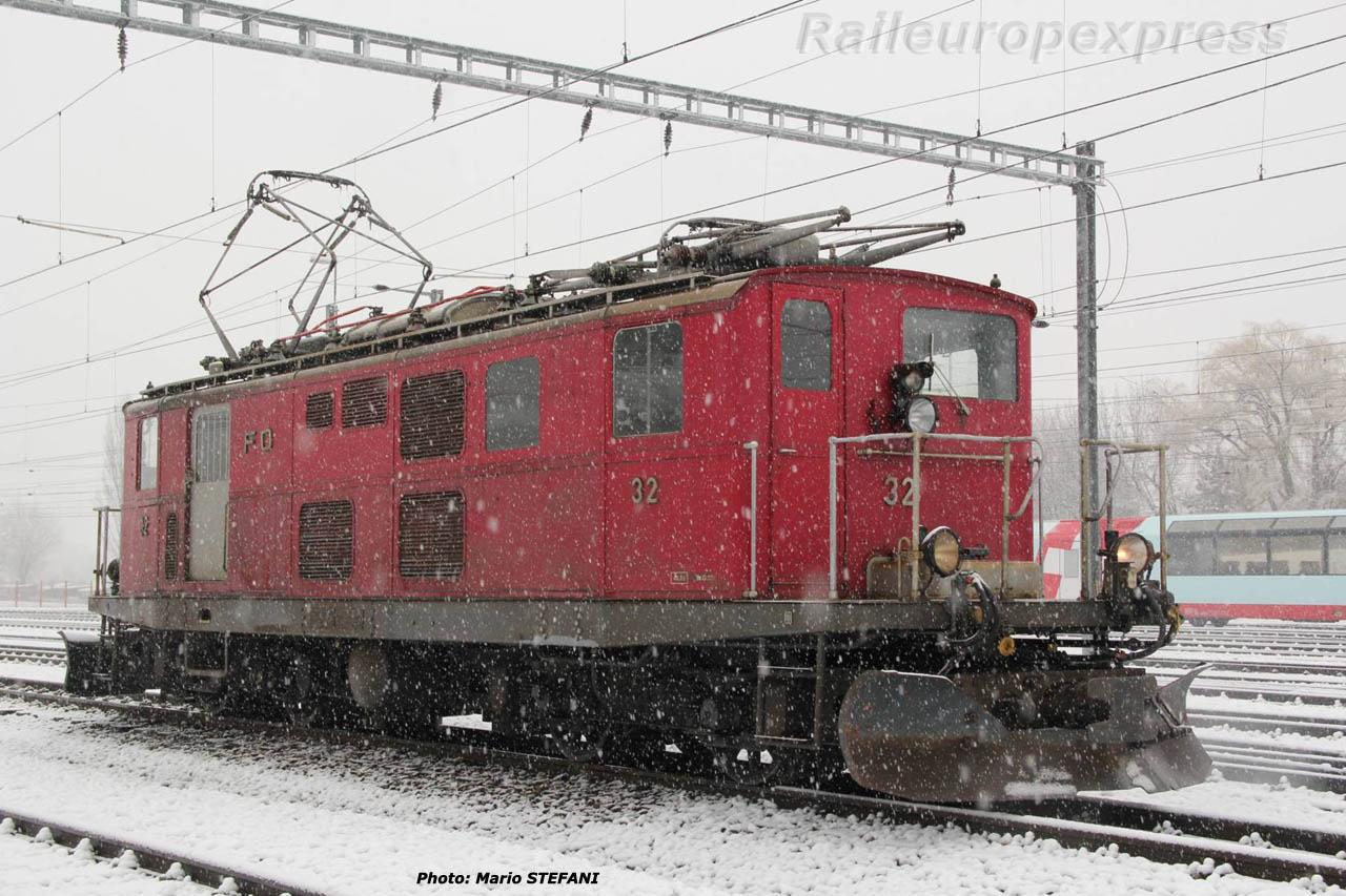 HGe 4/4 32 FO à Brig (CH)
