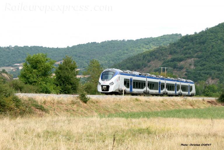 Rame Régiolis SNCF à Massiac (F-15)
